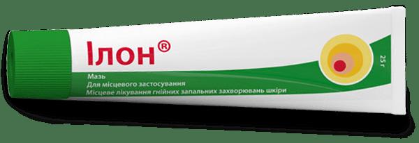 Мазь Илон для лечения акне и других гнойничковых воспалительных заболеваний кожи